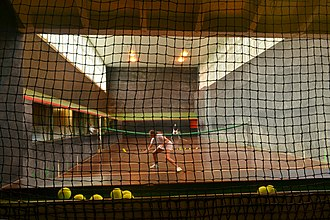 Cambridge University Real Tennis Club - The Green Court in September 2017