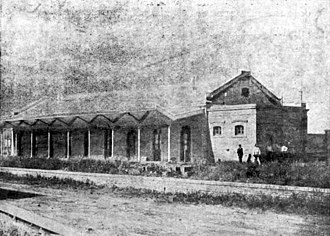 Rosario and Puerto Belgrano Railway - Coronel Suárez station, then part of Ferrocarril General Roca after 1948 nationalization.