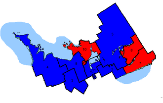 Canadian federal election results in Central Ontario - Key map