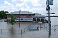 Coast Guard Station surrounded by flood waters from Mississippi River.jpg