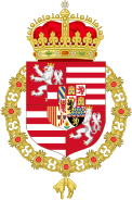 Coat of Arms of Ferdinand I of Austria (1503-1564) as King of Hungary and Bohemia.svg