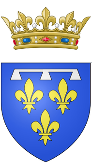Coat of arms of Gaston, Duke of Orléans.png