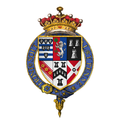 Coat of arms of Sir William Cecil, 2nd Earl of Exeter, KG.png