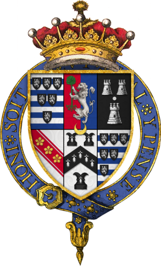 William Cecil, 2nd Earl of Salisbury - Arms of Sir William Cecil, 2nd Earl of Salisbury, KG