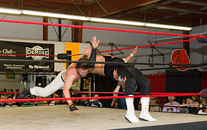 Cody Deaner - Deaner executing the Giver Drop on an opponent.