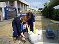 Collection of activated sludge with a bucket (5730201636).jpg