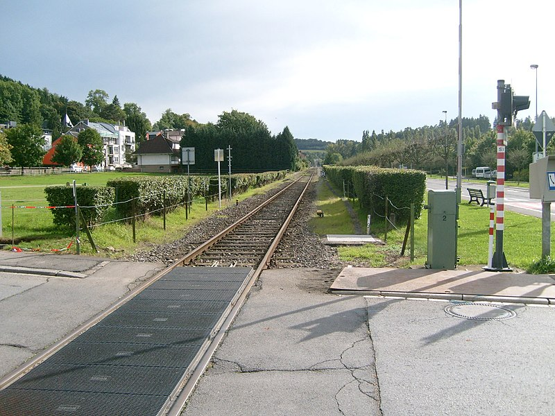 The railway sideline in Colmar-Berg, Luxembourg.