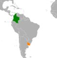 Colombia Uruguay Locator.png
