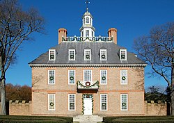 Colonial Williamsburg Governor's Palace Main Building.JPG
