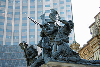 Soldiers' and Sailors' Monument (Cleveland) - One of the four sculptural groupings on the monument's exterior
