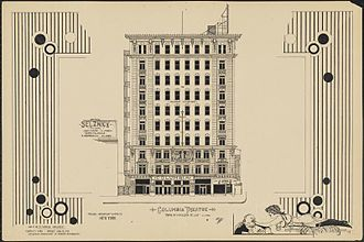 Columbia Amusement Company - Image: Columbia Theatre 1920 by Anthony F. Dumas
