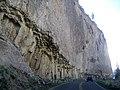 Columnar Basalt along Road DyeClan.com - panoramio.jpg
