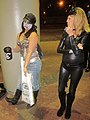 Comic Con Zombie Gal and Catwoman Not Impressed.JPG