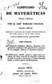 Compendio de matemáticas puras y mistas - Tercera ed. - Tomo primero.pdf