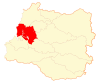 Location of the Valdivia commune in Los Ríos Region