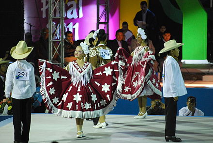 Scene at the 2011 National Huapango Dance Competition in Pinal de Amoles ConcursoHuapango05.JPG