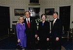 Congressman Michael McCaul, and his wife Linda, meet with President George W. Bush and First Lady Laura Bush at the Whitehouse.jpg