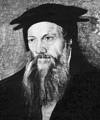 Conrad Gessner - Portrait by Tobias Stimmer, c. 1564