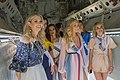 Contestants in the 2018 Miss USA pageant look inside the bomb bay of a B-52 Stratofortress.jpg