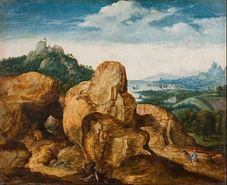 Cornelis Massijs - Landscape with the Flight to Egypt