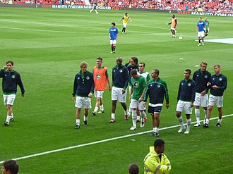 New York Cosmos (2010) - The Cosmos team at Old Traford before the first match of the revived franchise v. Manchester United in August 2011