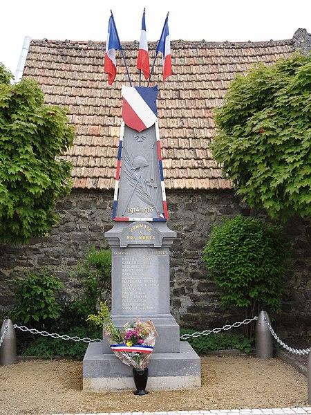 Coucy-lès-Eppes (Aisne) monument aux morts