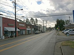 A view of Main Street in Courtland, Virginia