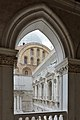 Courtyard of the Doges Palace Venice Renaissance windows gothic arch.jpg