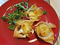 Cranberry and goat's cheese filo parcels (8334166792).jpg