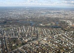 Cranston, Rhode Island - Cranston skyline, December 2008