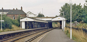 Crofton Park railway station - Crofton Park railway station in 1983