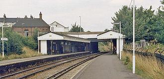 Crofton Park railway station - Crofton Park railway station in 1983