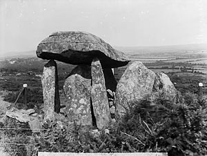Pentre Ifan - Pentre Ifan, photographed in around 1885.