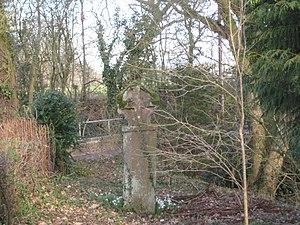 Raglan, Monmouthshire - Cross at Croes Llwyd Farm