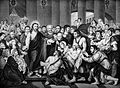 Crowds gather as Christ heals the sick. Lithograph after Ben Wellcome L0025626.jpg