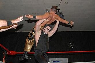 Powerbomb - Mikael Judas performing El Crucifijo on Pendleton