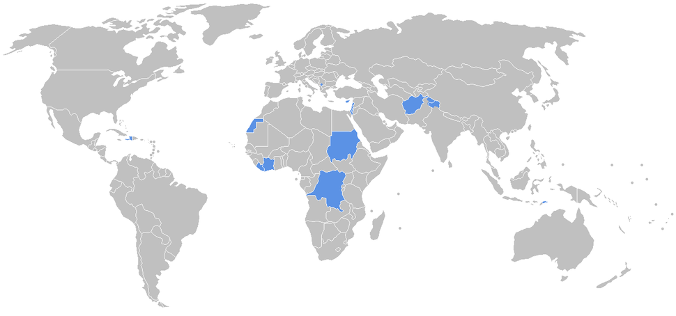 Current UN peacekeeping missions