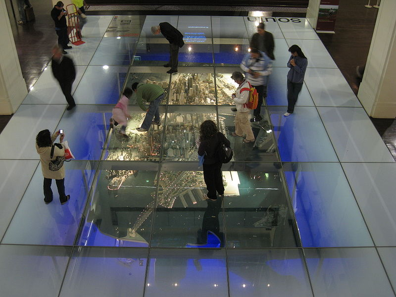 Glass floor at Customs House Library