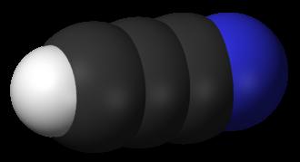 Cyanoacetylene - Image: Cyanoacetylene 3D vd W