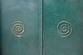 Cycladic spirals on door in Apeiranthos, Naxos, 21st c AD, 118814.jpg