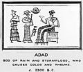 Cylinder seal showing Adad, god who causes colds and rheums. Wellcome M0011141.jpg