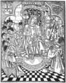 D. Manuel I assistido de letrados e militares (Livro dos Ofícios da corte e da Casa de Suplicação, Livro I das Ordenações d'El-Rei D. Manuel, Lisboa, João Pedro Bonhomini de Cremona, 1514).png