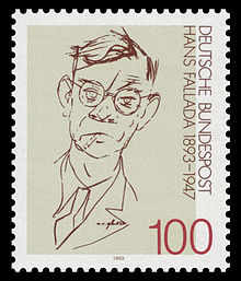 100th day of birth of Hans Fallada (1893— 1947)