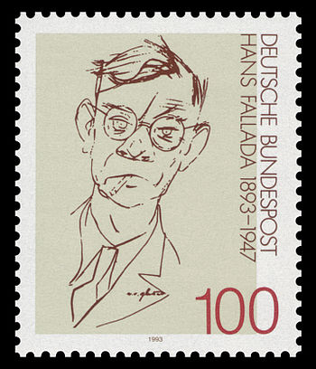 English: 100th day of birth of Hans Fallada (1...