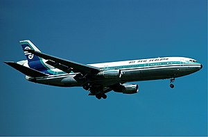 Air New Zealand - The McDonnell Douglas DC-10 was first delivered in 1973, and were the first Air NZ aircraft to feature the now ubiquitous koru logo.