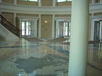John Calhoun Baker University Center - Baker Center interior at the top entrance