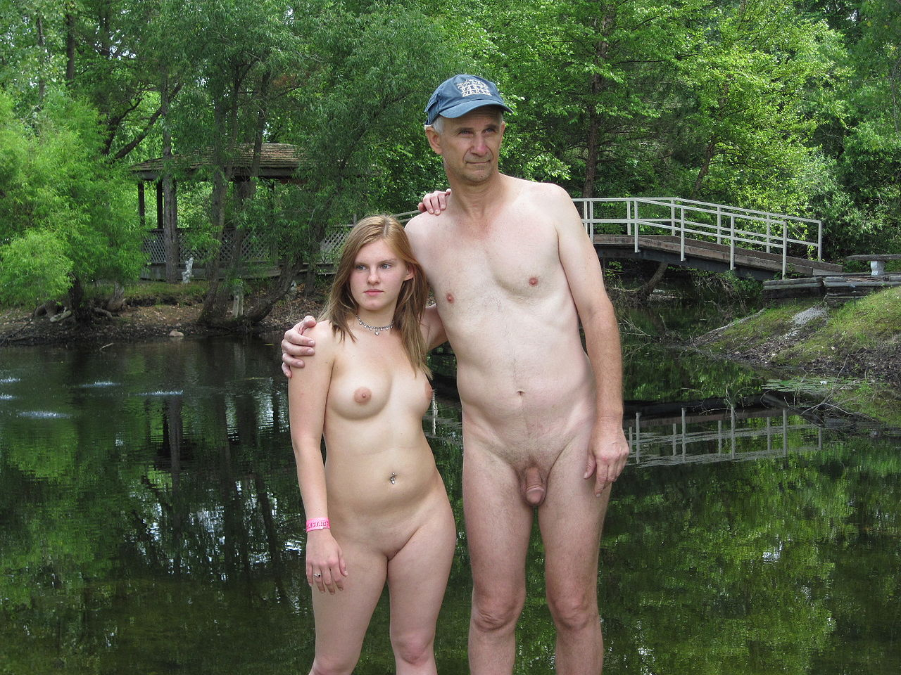 Father and daugther nude picture