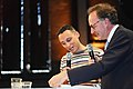 Dagvoorzitter Farid Tabarki en juryvoorzitter Alexander Rinnooy Kan (4540669728) (2).jpg