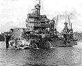 Damaged USS New Orleans (CA-32) reaching Tulagi on 1 December 1942.jpg