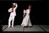 Dancing at the Wikimania 2015 Opening Ceremony IMG 7584.JPG